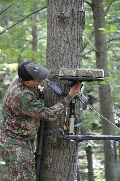Hanging tree stands is more than just attaching your platform to the tree. A careful inventory of the surroundings will tell you what must be removed to ensure a clear shot. A DIY hunter cannot afford to risk tipping a buck off that something is wrong by overdoing it.