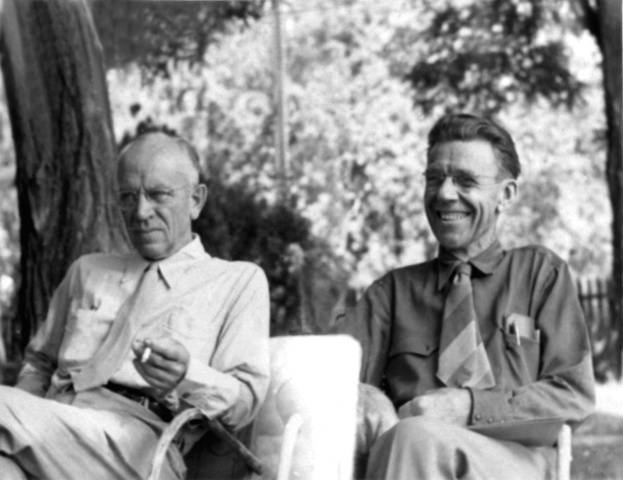 Aldo Leopold (left) and Olaus Muire.