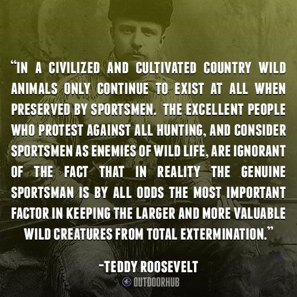 Theodore Roosevelt Quotes Alluring 12 Inspirational Quotes All Hunters Should Know  Outdoorhub