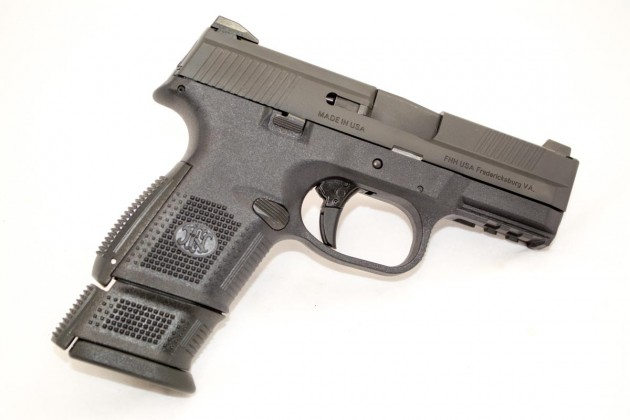 The 17-round magazine comes with a sleeve that extends the length of the grip.