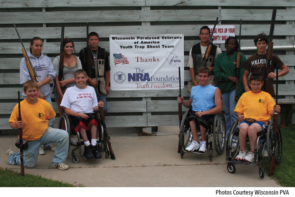 NRA Foundation grants allow the Annual Paralyzed Veterans of America National Trapshoot Circuit to invite 25 youth shooters completely free of charge.