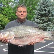 Richard Knisley shows off Ohio's newest record wiper.