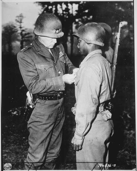 General Patton with his ivory-gripped SAA visible.