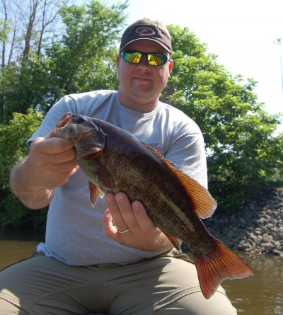 This smallmouth bass came from the Grand River in July.