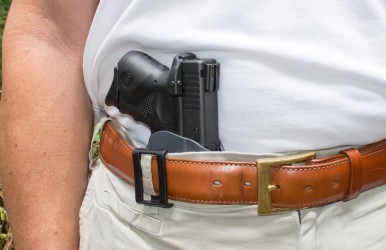 What made appendix carry feasible for me was the high position of the Blackhawk! A.R.C. holster.