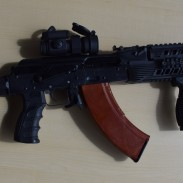 """The RWC Group IZ-132Z with a Russian """"bakelite"""" magazine inserted."""
