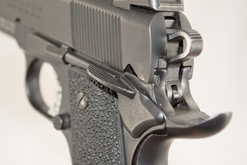"""The generous safety is easy to engage, not like those """"little nub"""" safeties on many compact guns."""