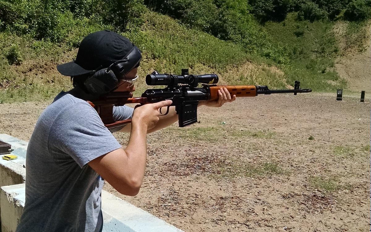 Video Firing An Svd Dragunov Sniper Rifle And Ak 74 In