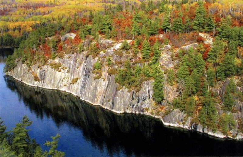 Grassy Bay in Voyageurs National Park in early fall.