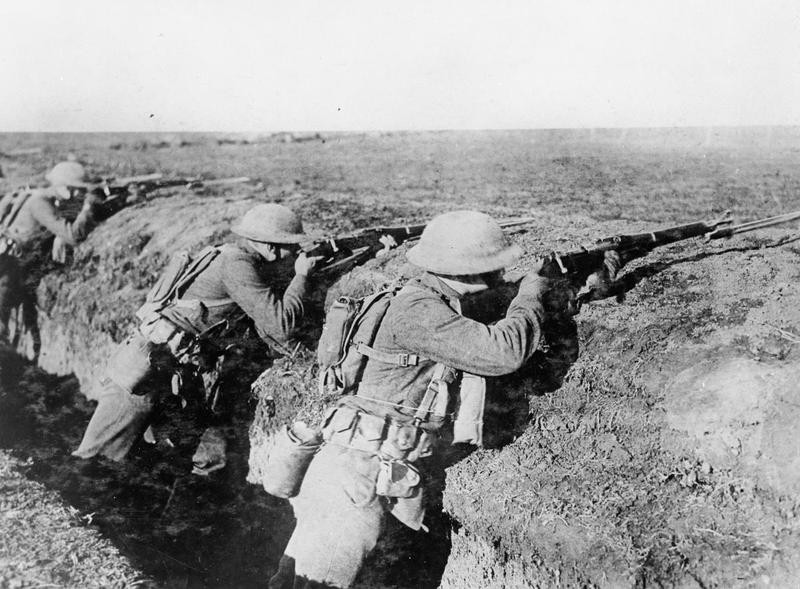 US Marines equipped with the M1903 Springfield in Italy during WWI.