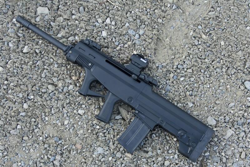 The LA K12 is a descendant of the QBZ family of assault rifles.