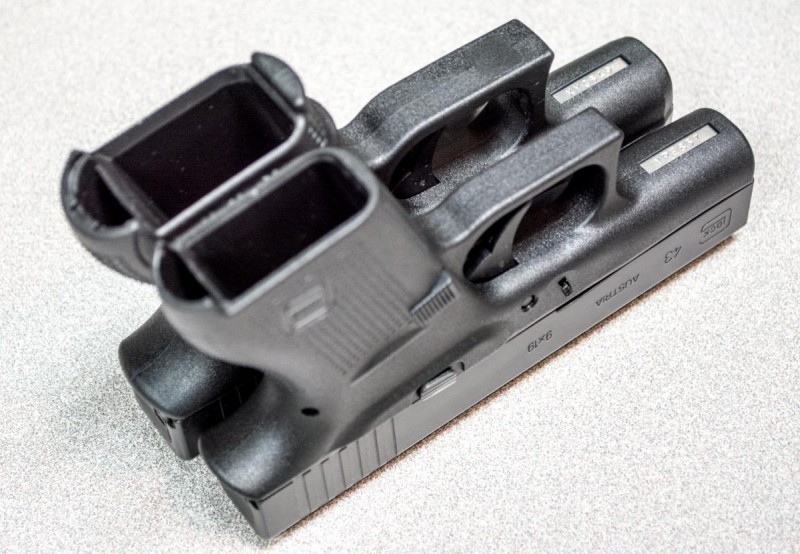 Like the others here, the Glock 43 is a single stack design. It has lower capacity, but is easy to conceal.