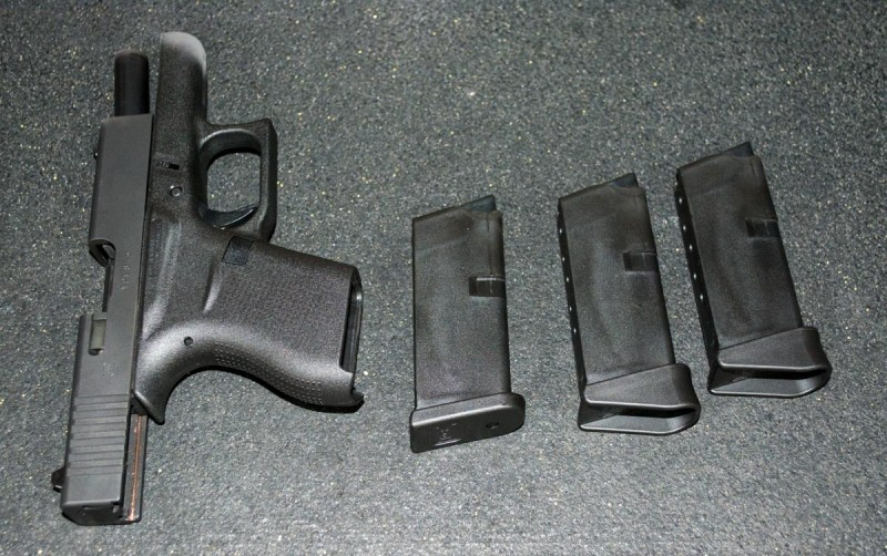 I found the Glock 43 comfortable to shoot. Note the more rounded grip profile as compared to larger Glock pistols.
