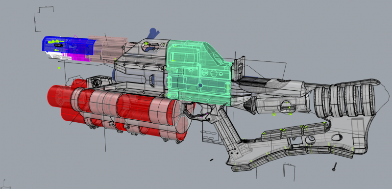 CAD design file of the rail gun.