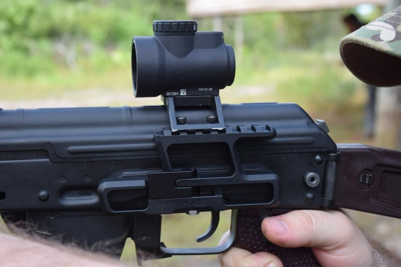 The prototype AKMT seen here is mounted on an RS AK-302 lower.