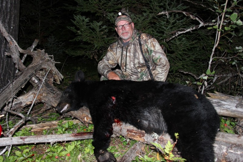 The author's bear from his self-guided Ontario hunt.