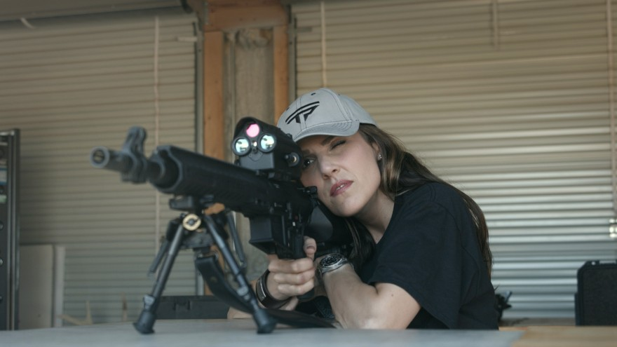 Taya Kyle won her first major shooting competition with a perfect score.