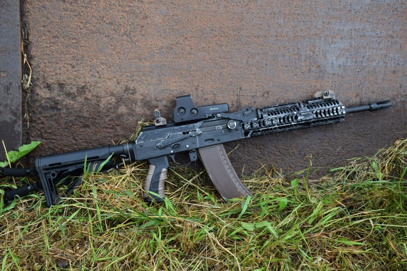 This rifle belonging to Rob Ski of the AK Operators Union began its life as a Saiga. It has since been heavily customized by Definitive Arms and outfitted with high-quality accessories by Rob.