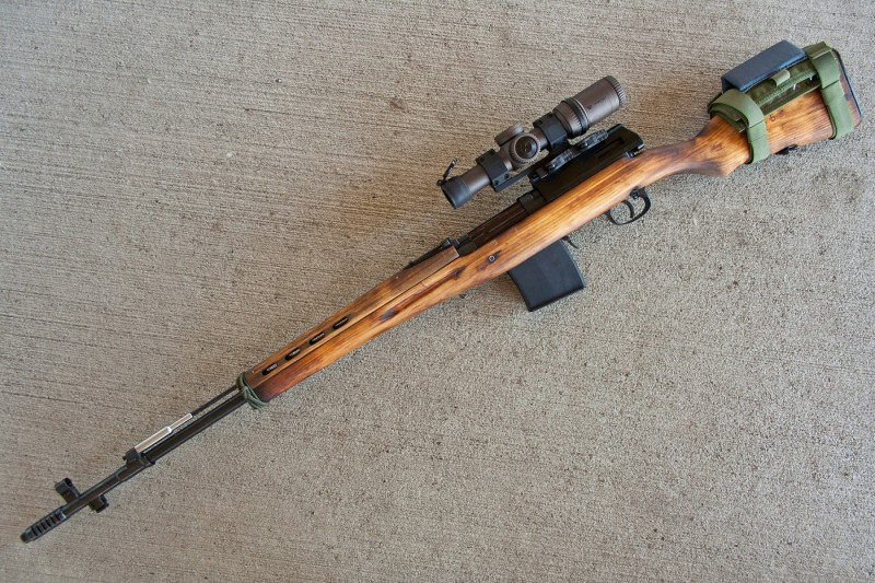 The author's SVT fitted with an aftermarket scope and scope mount.