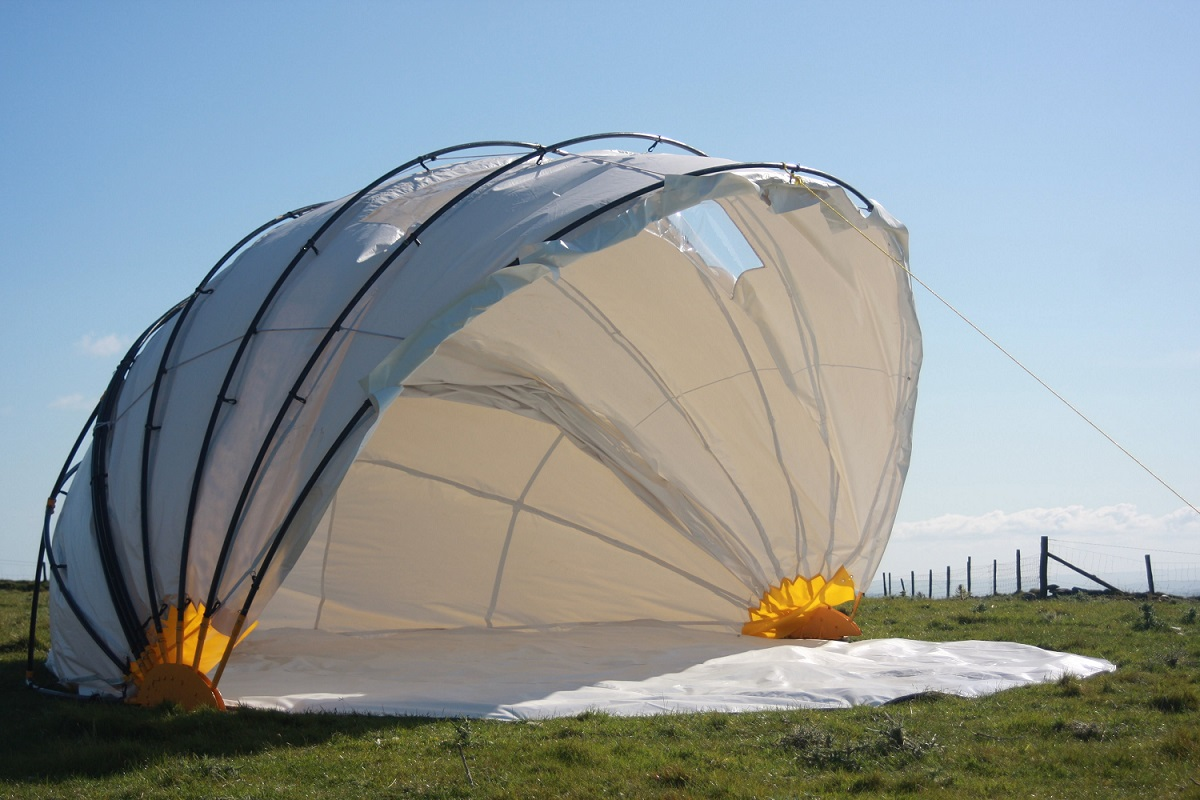 Tent In A Can : Meet the mollusc an innovative tent that can fold up in