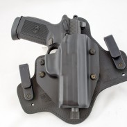 Alien Gear's Cloak Tuck 3.0 IWB holster with a large FNX 45 Tactical pistol.
