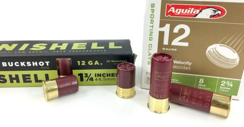 The Aguila Minishells are a full inch shorter than standard 2 3/4-inch 12-gauge shells.