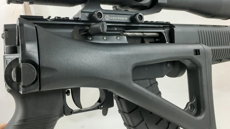 One of the benefits of the piston operation is that you can use a folding stock.