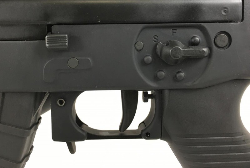 With the exception of the bolt handle and release, controls are ambidextrous.
