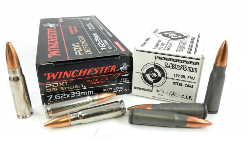 I tried some imported and domestic 7.62x39mm ammo.