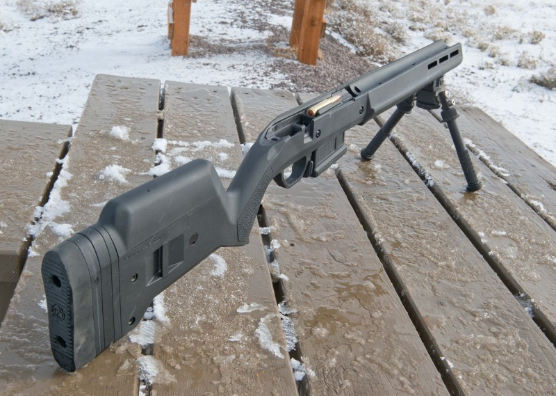 The Hunter 700, magazine well, and Atlas Bipod, minus action.