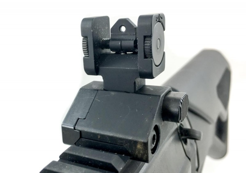 I really like the included flip up sights - they're plenty durable for permanent use.