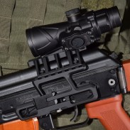 The new Browe BTO-005G-RS in an RS Regulate mount on the author's SLR-104 AK.