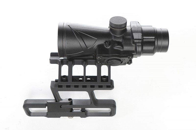 The BTO RS and its mount.