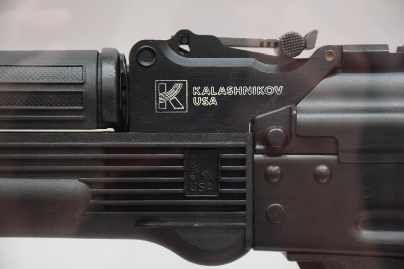 Kalashnikov USA branding on one of the 9x19mm models.