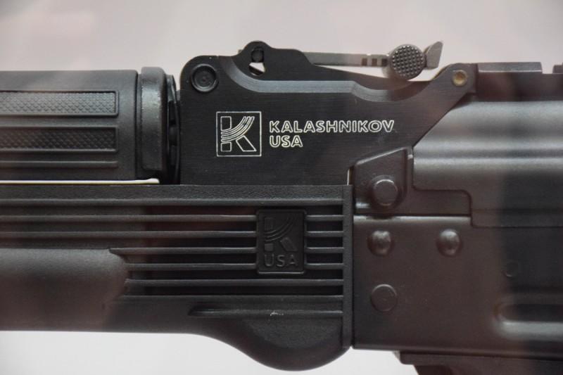 Kalashnikov USA branding on one of the 9x19mm models.