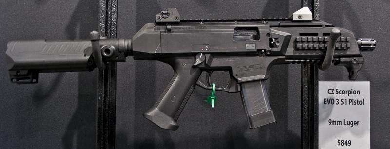 The CZ USA Scorpion Evo 3 S1 pistol. Image by Edward Osborne.