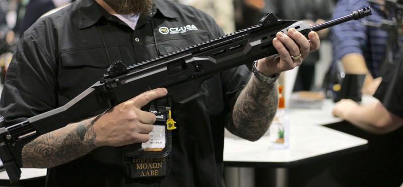 A Scorpion carbine.