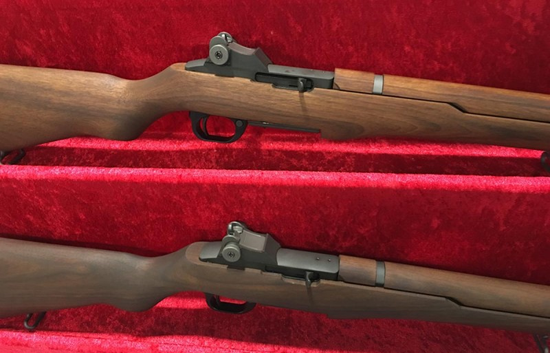 Something looks a little different about this pair of M1 Garands...