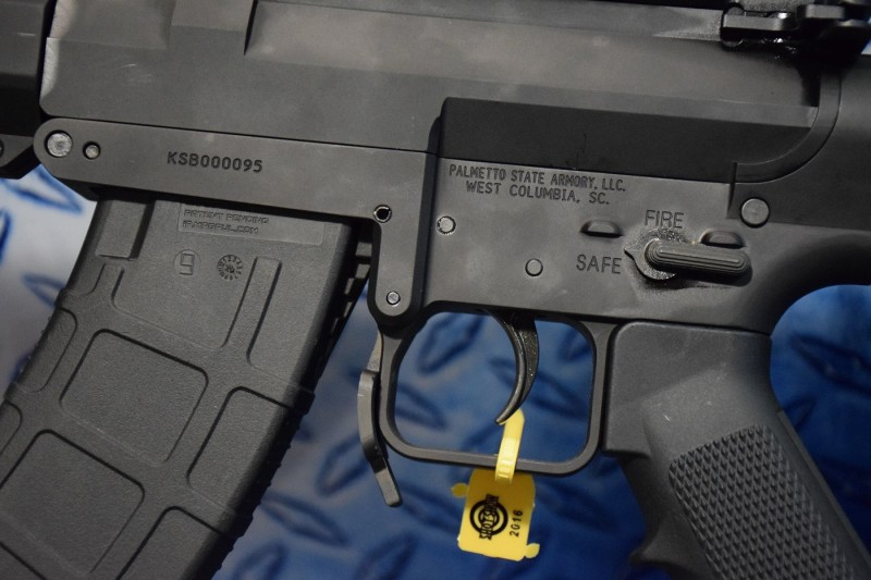 The magwell and fire controls of the KS-47.