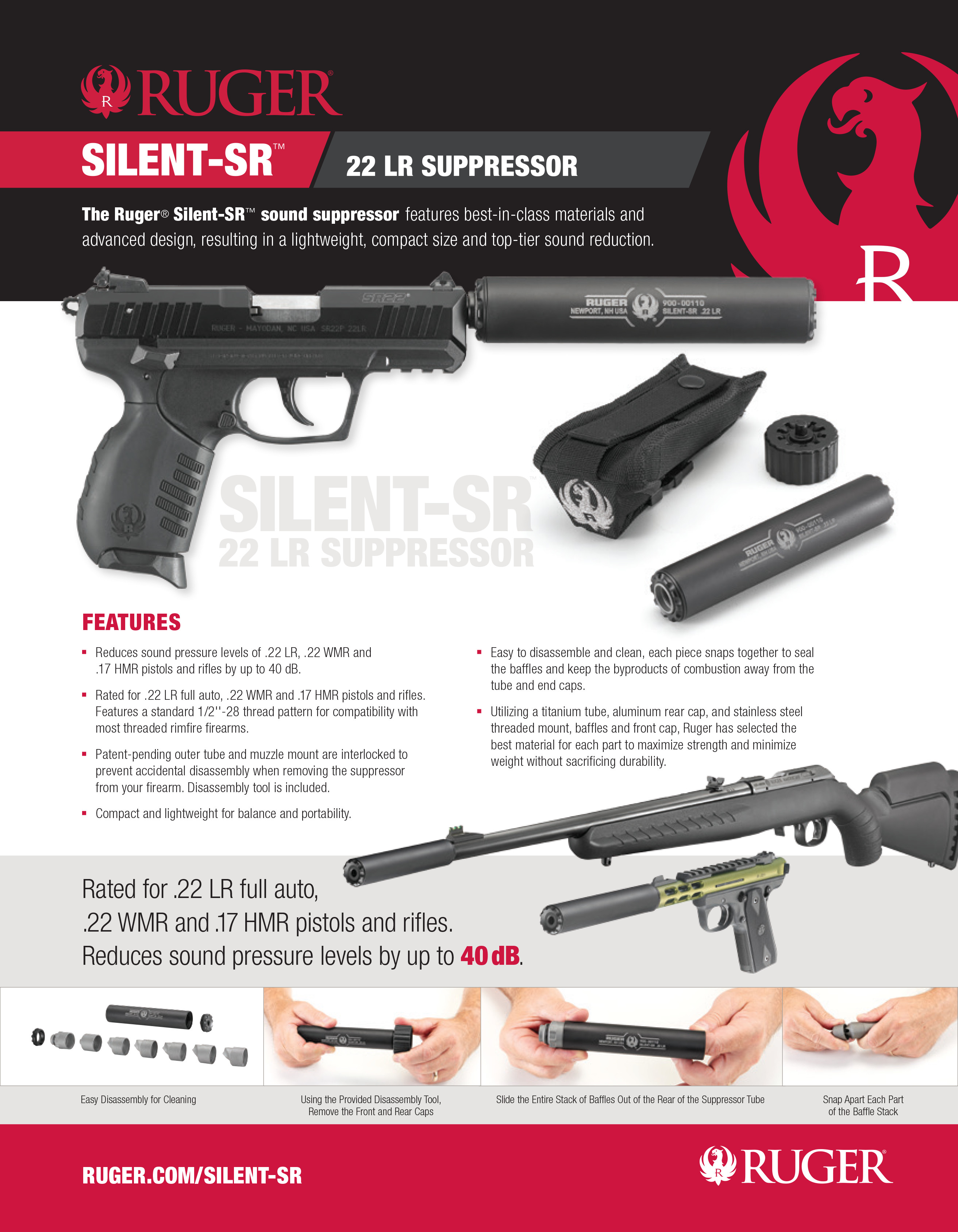 Ruger Announces New Silent Sr 22 Caliber Suppressor