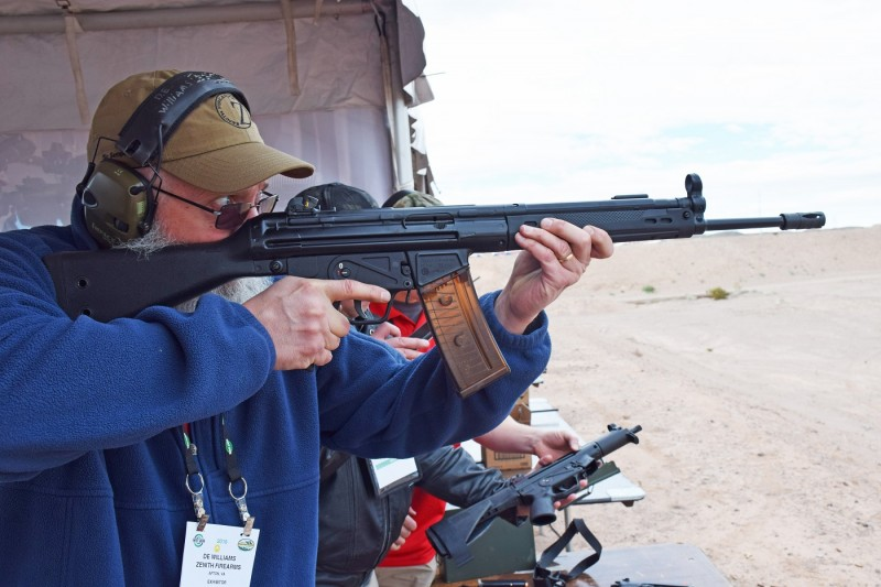 A Z43 Rifle at SHOT Show 2016 Industry Day at the Range.