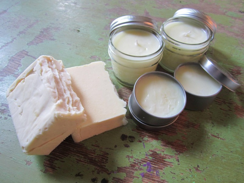 Candles, soap, and salve from rendered deer fat. Don't knock it until you tried it, that's our motto.