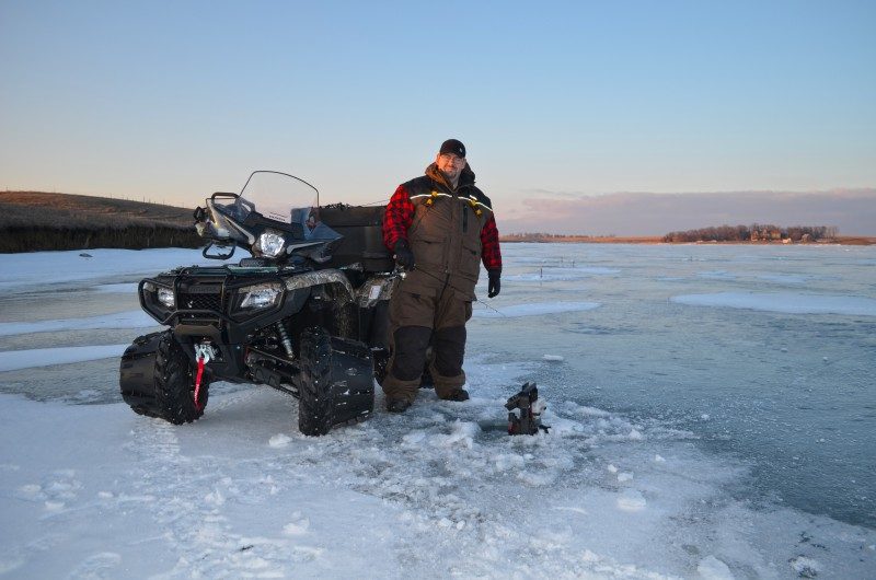 Mobility is a key factor in finding big fish through the ice.