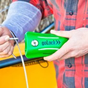 Unlike traditional locks, the goLock VENTURE notifies you if someone tries to grab your stuff.