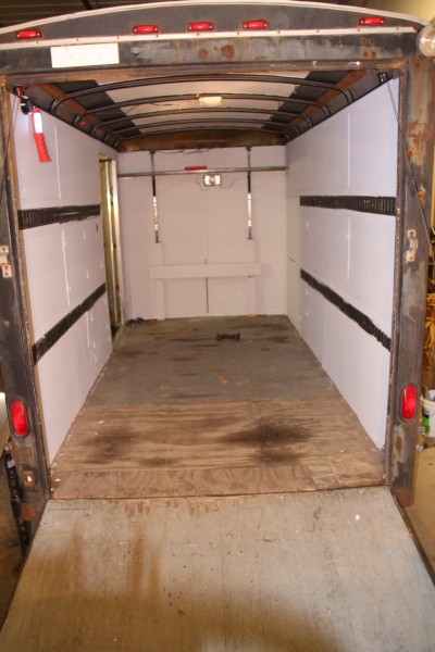The trailer started out as an empty 6X12 enclosed trailer.