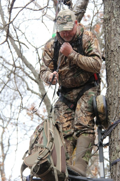 Something as simple has a haul rope to help get your bow and pack into the stand is not only faster, but much safer than climbing with one hand.