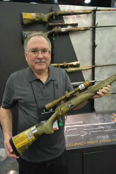 Browning's Paul Thompson shows off the new X-Bolt in A-TACS camo.