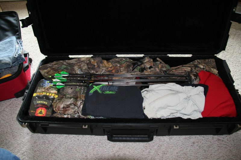 Getting your bow through baggage handling and to a hunting destination in good shape can be a problem. Tightly packing it in hard-sided luggage specifically made for the purpose is a good idea.
