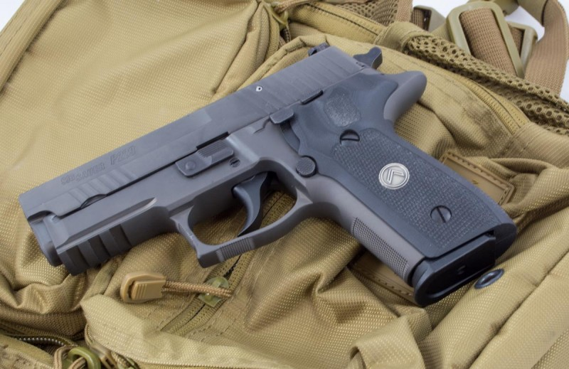 This Sig Sauer Legion weighs about two pounds, yet requires ten pounds of pressure to break the first shot. Even subsequent shows take 4.4 pounds of trigger force.