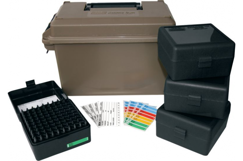 To organize and safely store your ammo, pick up some cases like this MTM set.